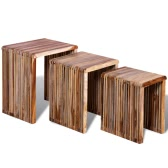 Nesting Tables Reclaimed Teak Set of 3