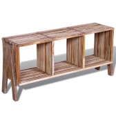 TV Cabinet with 3 Shelves Stackable Reclaimed Teak