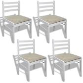 Silla de cocina de madera de la silla de la cena 4PCS