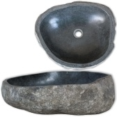cuenca de piedra ovalada de 40 cm