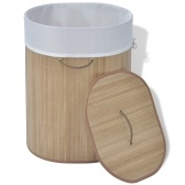 bamboo laundry basket oval Nature