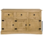 Sideboard in Mexico style pine 132x43x78 cm