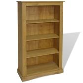 243743 4-Tier Bücherregal Mexican Pine Corona Reichweite 81x29x150 cm