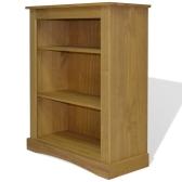 243745 3-Tier Bookcase Mexican Pine Corona Range 81x29x100 cm