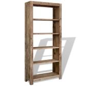 Bücherregal aus massivem Akazienholz, 80x30x180 cm