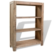 3-Tier Bookcase Solid Acacia Wood 80x30x110 cm