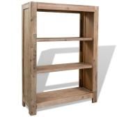 Bücherregal aus massivem Akazienholz 80x30x110 cm