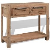 Consola de madera maciza de acacia 73x33x83 cm