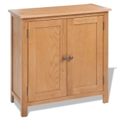Sideboard Solid Oak 70x35x75 cm Brown