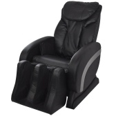 Electric Massage Chair Imitation Leather Black