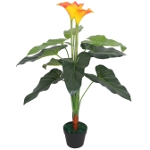 Artificial Calla Lily Plant with Pot 85 cm Red and Yellow