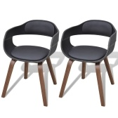 2 x bentwood dining chairs with imitation leather cover
