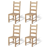 Massive Dining Chairs 4 pcs Teak 45.5x53x111 cm