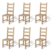 Massive Dining Chairs 6 pcs Teak 45.5x53x111 cm