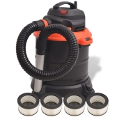 Ash Vacuum Cleaner 1200 W 20 L Black and Orange