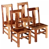 Sillas de comedor 4 piezas de madera maciza de Sheesham (243964x2)