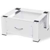 Base for washing machine white with drawer