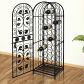 Metal Wine Cabinet Rack Wine Stand for 45 Bottles