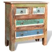 Исправленный древесины кабинет с 4-мя ящиками