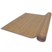 Rectangulaire Brown Bamboo Rug 150 x 200 cm