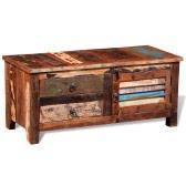 Odzyskanych z litego drewna z boku Szafka z 1 drzwi 2 szuflady
