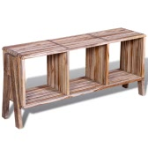 TV Szafka z 3 półkami Stackable Reclaimed Teak