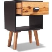 comodini 2 pezzi solidi di legno di acacia 40x30x45 cm