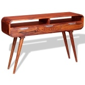 Table console  en bois de sheesham massif 120x30x75 cm