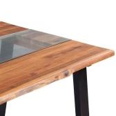 Обеденный стол Solid Acacia Дерево и стекло 180x90x75 см