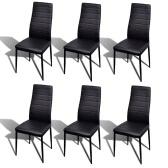 6 Stück Schwarz Slim Line Dining Chair