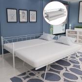 giorno telaio del letto 211 x 100 x 95 centimetri in acciaio bianco