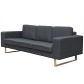 Sofa z 3 osobową tkaniną Ciemnoszary