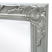 Specchio da parete stile barocco 140 x 50 cm Argento