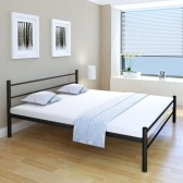 Bed frame Metal Black 180 x 200 cm