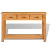 Large solid oak console table 118 x 35 x 77 cm