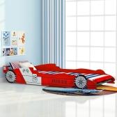 Łóżko samochodowe wyścigowe dla dzieci 90 x 200 cm Czerwone