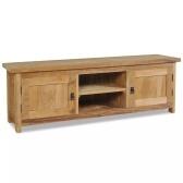 Stojak pod telewizor z litego drewna tekowego 120 x 30 x 40 cm