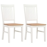 2 pcs 44x59x95 cm Solid Oak Wood Dining Chairs