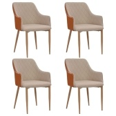 Home Restaurant Simple 4 pcs Dining chairs