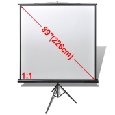 Manual Projection Screen with Height Adjustable Stand 63x63 inch 1:1