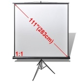 Manual Projection Screen / Height Adjustable Stand 78.7x78.7 inch 1:1