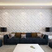 Panel De Pared 3D Flor 0,3 M x 0,3 M 66 Paneles 6 M²