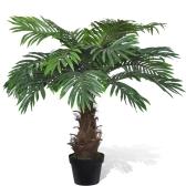 "Lifelike Artificial Cycas Palm Tree with Pot 31"""