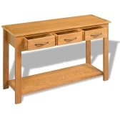Large Solid Wood Table Console 118x35x77 cm