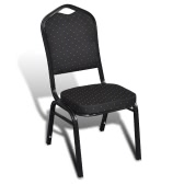 Table chair Padded Black Stackable 20 pcs
