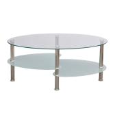 Diseño exclusivo mesa de café 3 estantes blanco