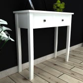 Console Table with 2 Drawers White