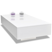 244021 Table basse  blanc brillant