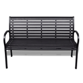 Garden bench with steel frame