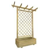 Giardino Pergola Planter cm in legno 162 x 56 x 204
